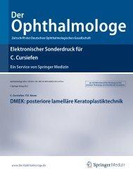 Elektronischer Sonderdruck für DMEK: posteriore lamelläre ...