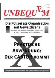 Unbequem Nr. 43 - Kritische Polizisten
