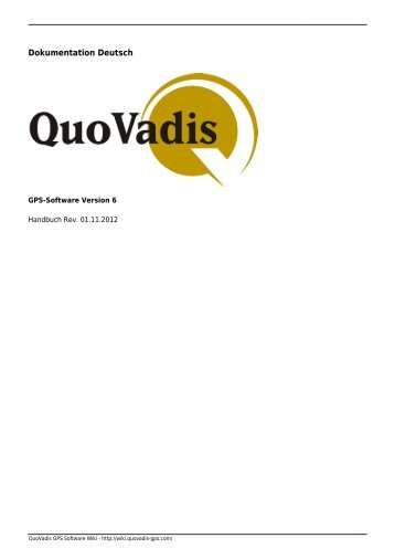 Menü Datei - QuoVadis