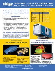 Oem products for laser scanner manufacturers - Surphaser
