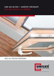 Holz-Alu-Fenster von UNILUX - W+D Fensterfreund