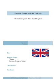 Pressure Groups and the Judiciary - Kai Arzheimer