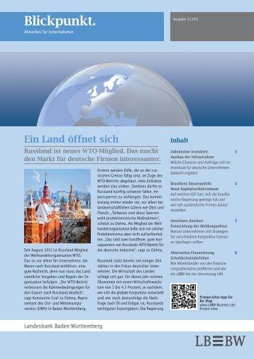 Blickpunkt. Aktuelles für Unternehmen - German Centre Moscow