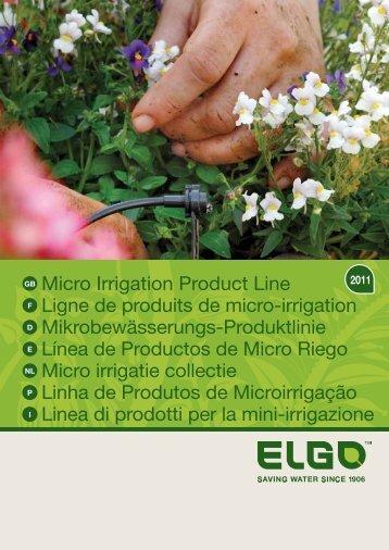 Micro Irrigation Product Line Ligne de produits de micro ... - Elgo