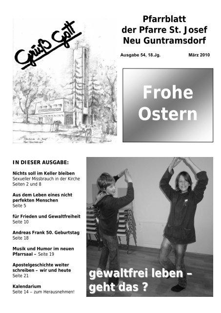 Veranstaltungskalender - Pfarre Neu Guntramsdorf