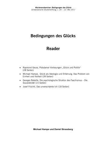 Reader - Studienstiftung