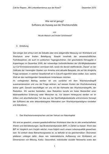 Langfassung - Linksreformismus