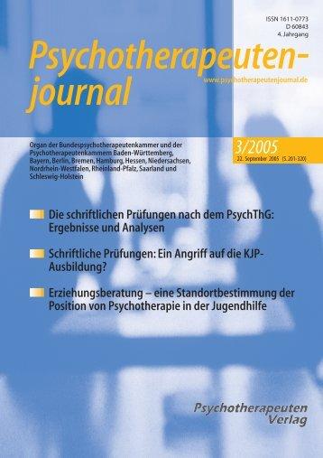 Psychotherapeutenjournal 3/2005 (.pdf)