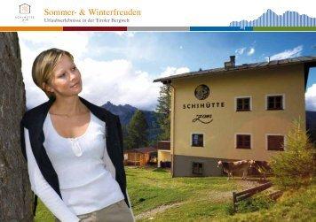 Sommer- & Winterfreuden - Skihütte Zams