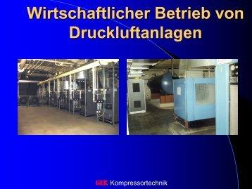 Wirtschaftlicher Betrieb von Druckluftanlagen
