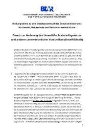 Gesetz zur Änderung des Umwelt-Rechtsbehelfsgesetzes ... - BDVR