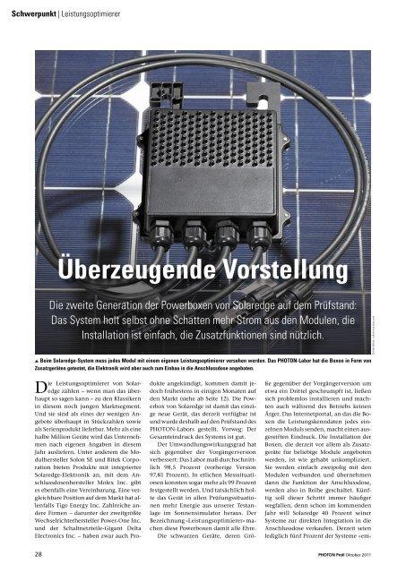 Überzeugende Vorstellung - SolarEdge
