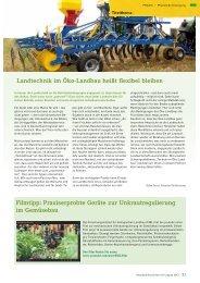 04-2013: Landtechnik im Öko-Landbau heißt flexibel ... - Naturland