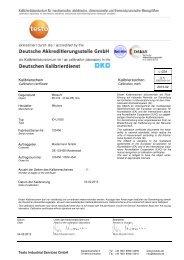 Messuhr digital - Testo Industrial Services GmbH