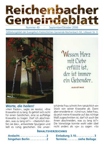 Nr. 49 September 06 - bei der EFG Reichenbach