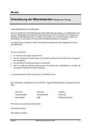 Orientierung der Mitarbeitenden (Beilage zum Vertrag) - GastroSuisse