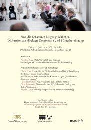 Sind die Schweizer Bürger glücklicher? - Baden-Württemberg