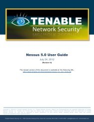 Nessus 5.0 User Guide - Tenable Network Security - Nessus