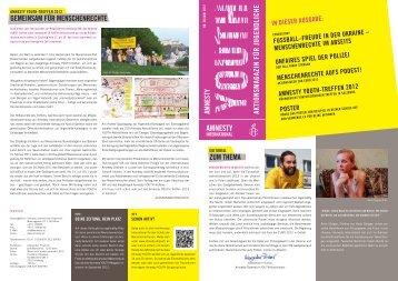 meNSCheNreChte im aBSeitS - Amnesty International Österreich