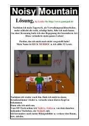 Noisy-Mountain, Lockes bebilderte deutsche Lösung - Gamepad.de