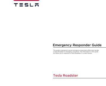 Emergency Responder Guide Tesla Roadster