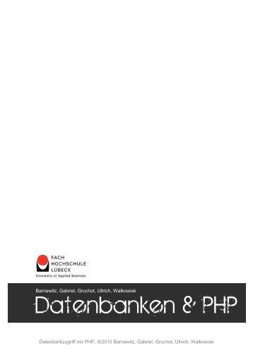 Zugriff auf Datenbanken mittels PHP - Praktische Informatik und ...