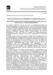 """""""Recherche-Förderung als Erfolgsfaktor für Medienunternehmen"""" (2 ..."""