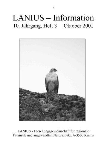 Heft 3 Oktober 2001 - LANIUS