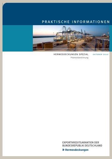 Hermesdeckungen spezial Prämienberechnung - AGA-Portal