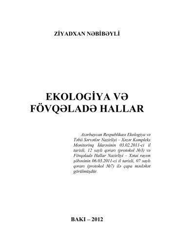 Ekologiya və fövqəladə hallar - Azərbaycan Milli Kitabxanası