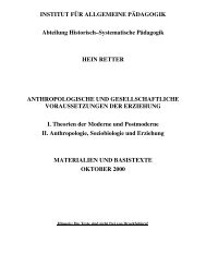 Anthropologische und gesellschaftliche Voraussetzungen der ...