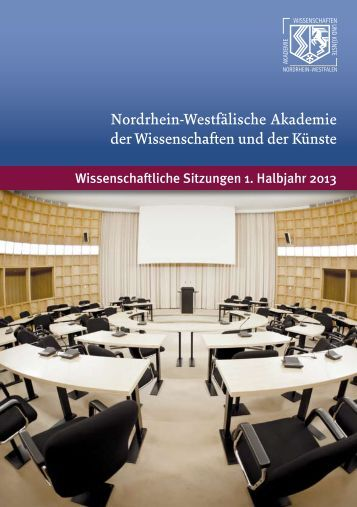 Veranstaltungsprogramm 1. Halbjahr 2013 - Nordrhein-Westfälische ...