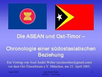 Die ASEAN und OstTimor - Osttimorforum e.V.
