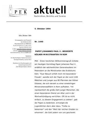 PEK - Erzbistum Köln