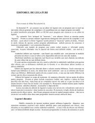 EDITORUL DE LEGATURI - Ingineria Sistemelor de calcul