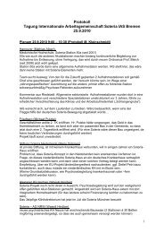 Protokoll Tagung Internationale Arbeitsgemeinschaft Soteria IAS ...