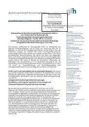 Gesellschaft für Humangenetik GenDG - VBio