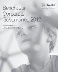 Bericht zur Corporate Governance 2012 - Nestlé