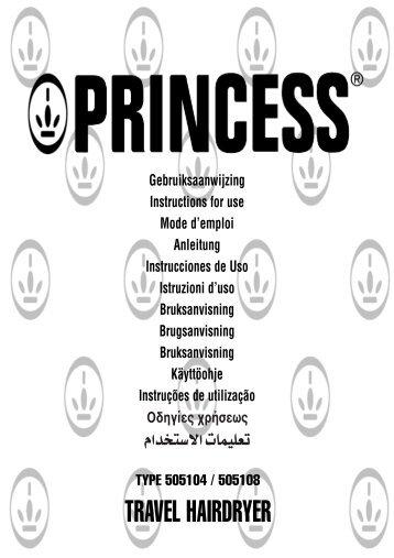 TRAVEL HAIRDRYER - Princess