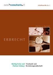 Schriftenreihe Nr. 1 - Mattig-Suter und Partner