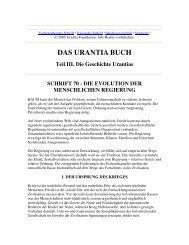 Schrift 70 - Die Evolution der Menschlichen Regierung