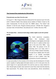 The Compact Disc celebrates its 20th birthday - Association of ...