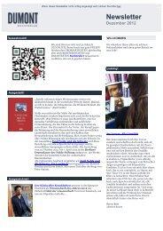Newsletter - Dumont Buchverlag