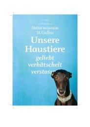 Unsere Haustiere - Naturmuseum St.Gallen