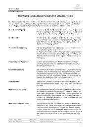Zusatzleistungen für Mitarbeitende - Kantonsspital Obwalden