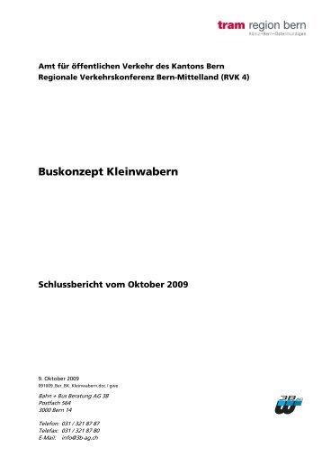 Buskonzept Kleinwabern - Tram Region Bern