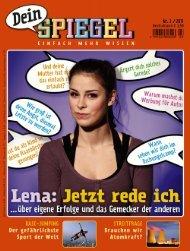 Leseprobe zum Titel: Dein SPIEGEL Nr. 03/2011 - Die Onleihe