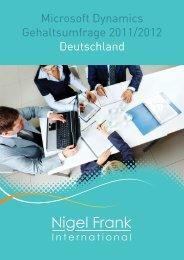 Microsoft Dynamics Gehaltsumfrage 2011/2012 Deutschland