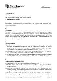 9/12/I - Vereinsförderrichtlinie - Bischofswerda