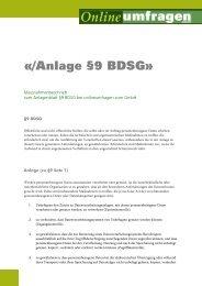 «/Anlage §9 BDSG» - Onlineumfragen.com